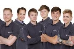 Jos (Albert Johan) Jonkeren met team van Pinkcube GmbH
